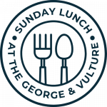 sunday lunch at the george and vulture colour logo